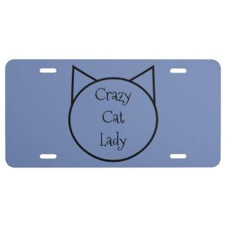 Matrícula Señora loca del gato