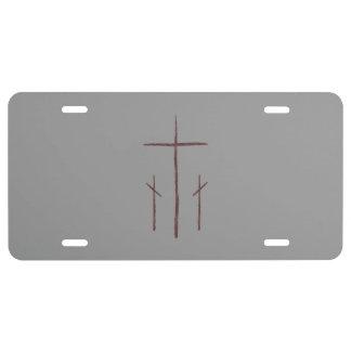 Matrícula Tres cruces en el Calvary