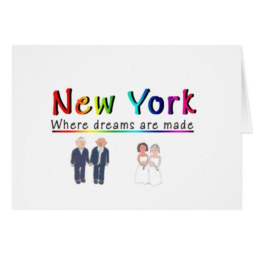 Matrimonio homosexual de Nueva York Tarjetón