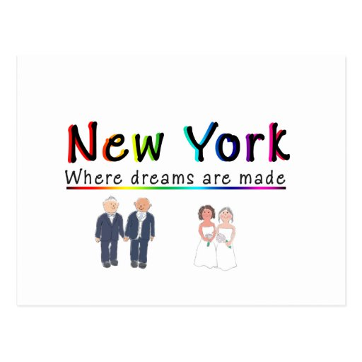 Matrimonio homosexual de Nueva York Postal
