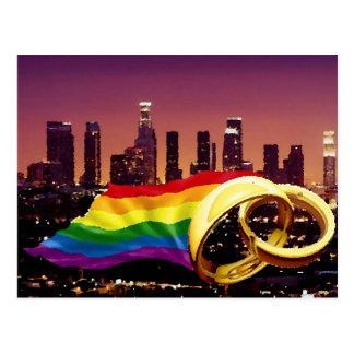 Matrimonio homosexual Los Ángeles Postal