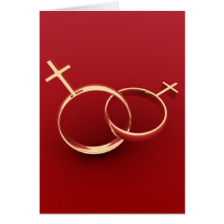 Matrimonio homosexual tarjeta de felicitación