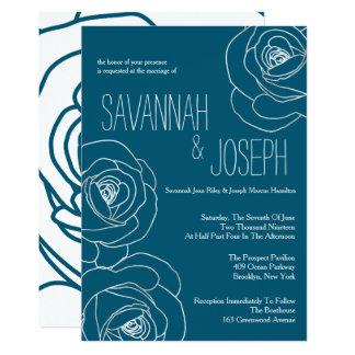 Matrimonio moderno del trullo oscuro, casando invitación 12,7 x 17,8 cm