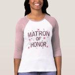 Matrona de la cebra del honor camiseta