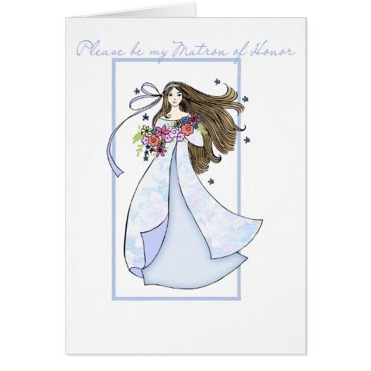 Matrona de la invitación del honor tarjeta de felicitación