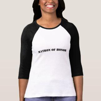 Matrona del honor/de la información del boda camiseta