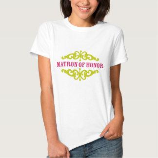 Matrona del honor (rosas fuertes y chartreuses) camiseta