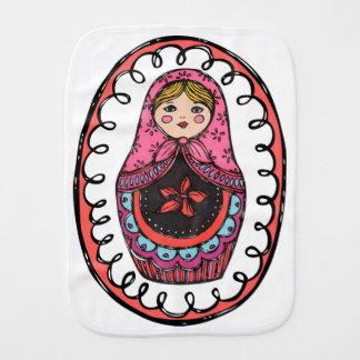 Matryoshka, paño ruso de Burb de la muñeca de la Paños Para Bebé