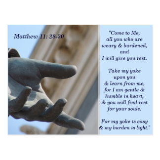 Matthew 11 28 tarjeta de memoria de 30 escrituras