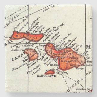 Maui, Lanai, piedra de las islas hawaianas de Posavasos De Piedra