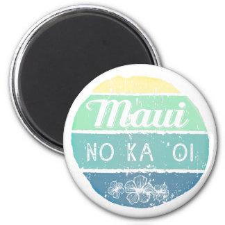 Maui ninguna tipografía del vintage de Oi de ka Imanes