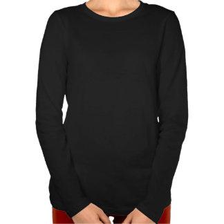 Maullido chillón T--camiseta larga de la manga del Camisetas