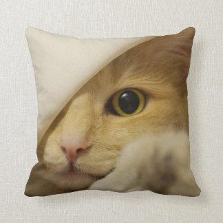 ¡MAULLIDO! Gato que juega la peekabo-ALMOHADA Cojín Decorativo