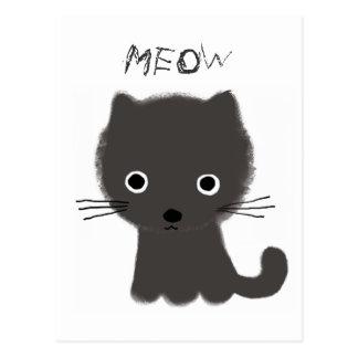 Maullido gris del gatito postal