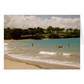 Mauna Kea, playas hawaianas Tarjeta