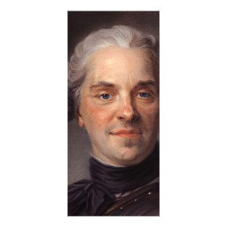 Mauricio de La Tour- Portrait de Mauricio de Sajon Tarjetas Publicitarias