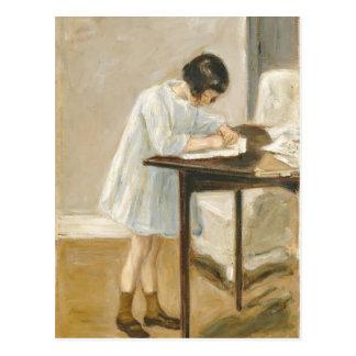 Máximo Liebermann- la nieta del artista Postal