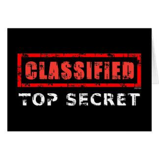 Máximo secreto clasificado tarjeta de felicitación