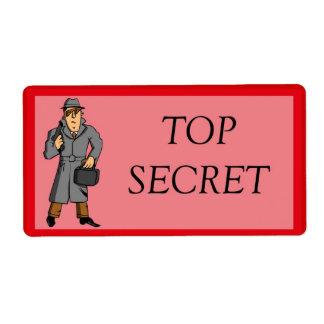 Máximo secreto con el espía etiqueta de envío