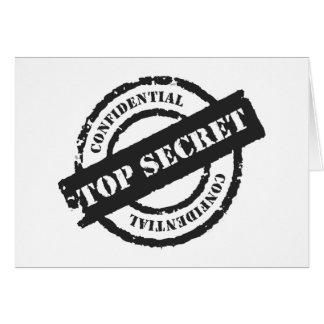 Máximo secreto confidencial tarjeta de felicitación