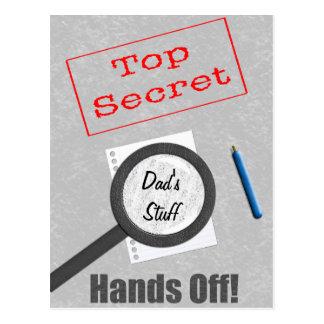 Máximo secreto de la materia del papá tarjetas postales