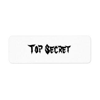 Máximo secreto etiqueta de remite