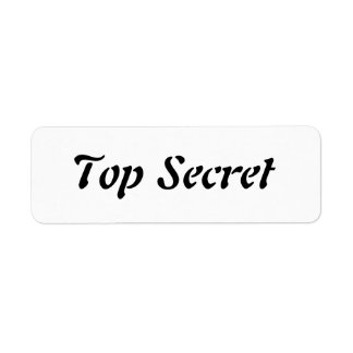 Máximo secreto etiqueta de remitente