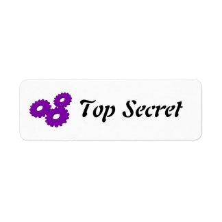 Máximo secreto etiquetas de remite