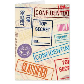 Máximo secreto - guarde hacia fuera tarjeta de felicitación