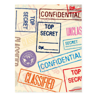 Máximo secreto - guarde hacia fuera postal