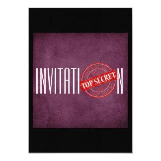 Máximo secreto púrpura personalizado de la invitación 12,7 x 17,8 cm