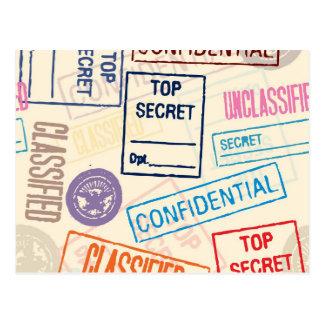 ¡Máximo secreto - salga! Postal