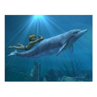 Máximo y delfín postal