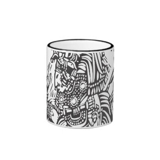 Maya alto taza de dos colores