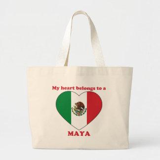 Maya Bolsa Lienzo