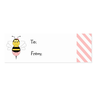 MayBee manosea la etiqueta del regalo de la abeja Plantillas De Tarjetas De Visita