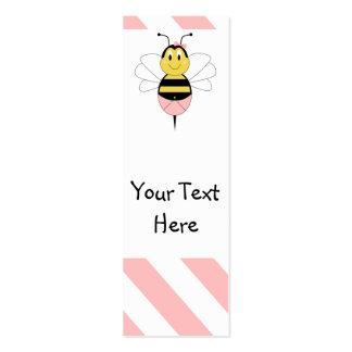 MayBee manosea la señal de la abeja Tarjetas De Visita Mini