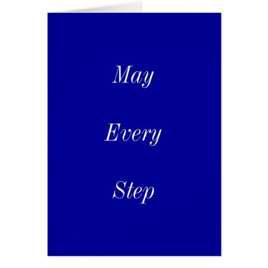 Mayo cada paso le trae paz tarjeta de felicitación