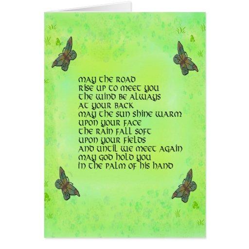 Mayo el camino se alza para encontrarle - poema ir felicitaciones