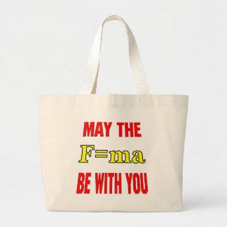 Mayo el F=ma sea con usted fuerza = x total Accele Bolsas