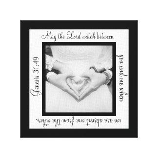 Mayo la impresión de señor Watch Wedding Canvas