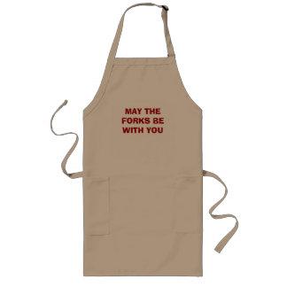 Mayo las bifurcaciones sean cocina divertida del   delantal largo