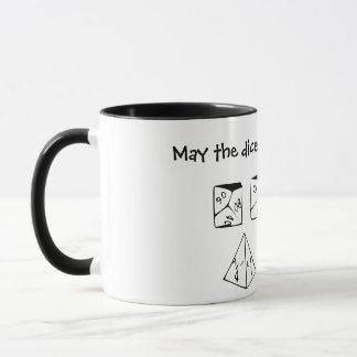 Mayo los dados ruedan nunca en su favor taza