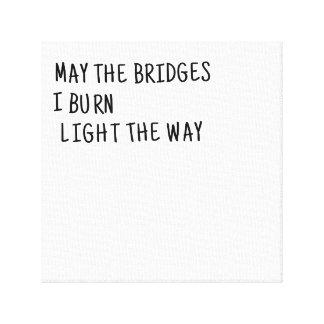 Mayo los puentes quemo la luz la manera lienzo