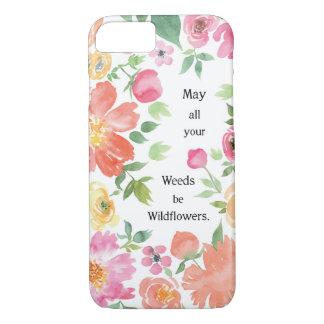 Mayo todas sus malas hierbas sean Wildflowers Funda iPhone 7