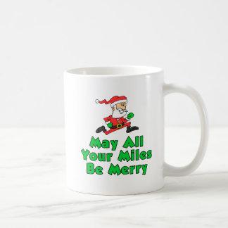 Mayo todas sus millas sean feliz taza de Santa