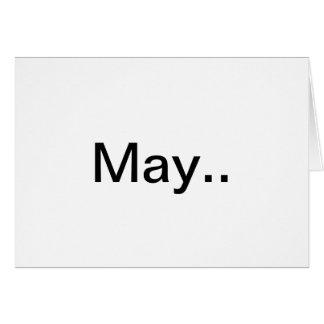 """""""Mayo"""" un poema de la bendición del boda Tarjeta De Felicitación"""
