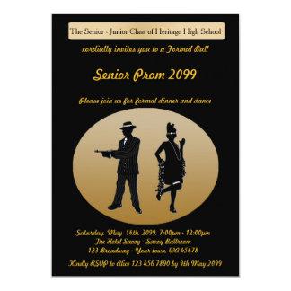 Mayor del baile de fin de curso, estilo de Gatsby, Invitación 12,7 X 17,8 Cm