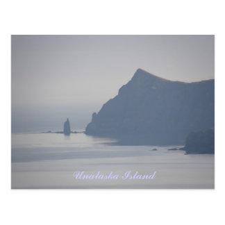 Mayor roca del sacerdote, isla de Unalaska Postal