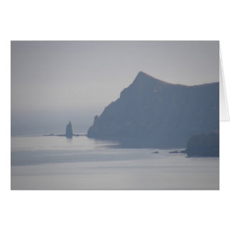 Mayor roca del sacerdote, isla de Unalaska Tarjeta De Felicitación
